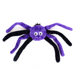 ZippyPaws Halloween Spiderz Plush Dog Toy - Purple/Black