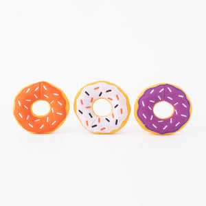 ZippyPaws Halloween Miniz 3-Pack Donutz