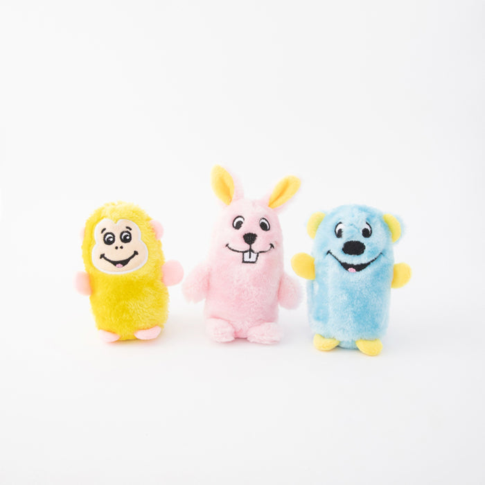 ZippyPaws Squeakie Buddies - Pack of 3 Dog Toys