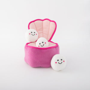 ZippyPaws Burrow - Pearls in Oyster Dog Toy