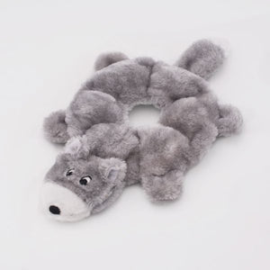 ZippyPaws Loopy Wolf Dog Toy