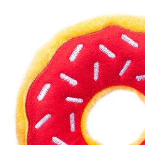 Zippy Paws Cherry Donutz Dog Toy