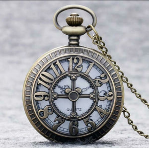 Mickey Number Pocket Watch Collectible New clock disney necklace quartz necklace mens ladies
