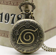 Naruto Pocket Watch Anime Clock Quarts Time Piece Gift Birthday teen