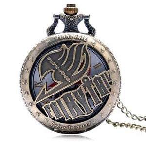 FairyTail Anime Pocket Watch Fairy Tail Tale Show Collectible clock time piece brass