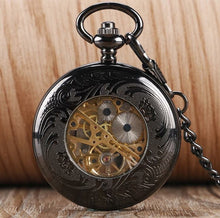 Black Numbered Mechanical Pocket Watch