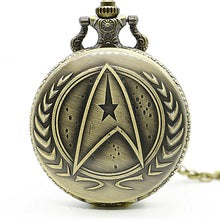 Pocket Watch Star Trek Blue Center Space Final Frontier Captain Picard MANY Styles