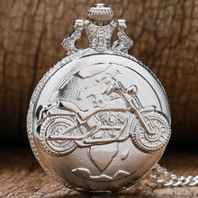 Motorcycle Pocket Watch Gift clock inside battery operated Harley Davidson mens ladies