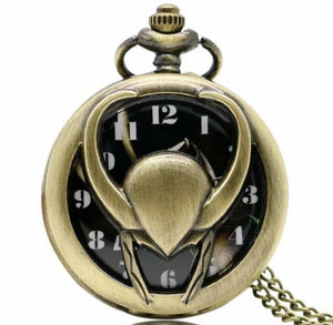 Loki Picture inside HOT Pocket Watch Thor avenger clock necklace greek god myth marvel brass collectible gift