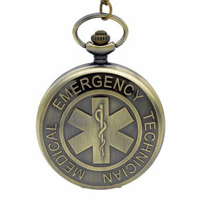 EMT Pocket Watch Clock Gift of Time Emergency Technician