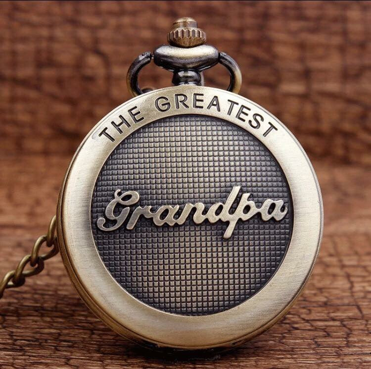 Grandpa Pocket Watch Grandfather Fathers Day Gift of TIME