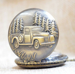 Chevy Truck Pocket Watch Classic Collectible car Chevrolet ford quartz