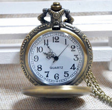 Fishing Pocket Watch Dad Fathers Day Gift Quartz Clock