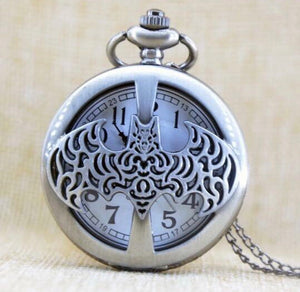 Batman Pocket Watch Totally Cool Clock quartz bat signal man boy kid