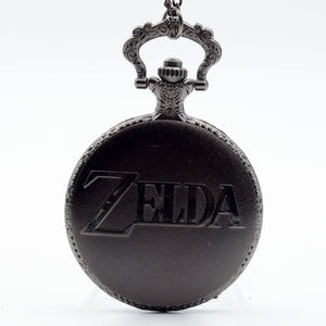 "Zelda Game anime legend link Gift Pocket Watch Clock necklace Battery 36"" chain Lot of 1"
