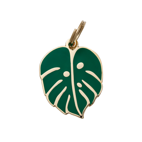 Pet ID Tag - Monstera Leaf