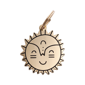 Pet ID Tag - Smiling Sun