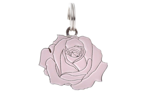 Rose - Pink & Silver - Pet ID Tag