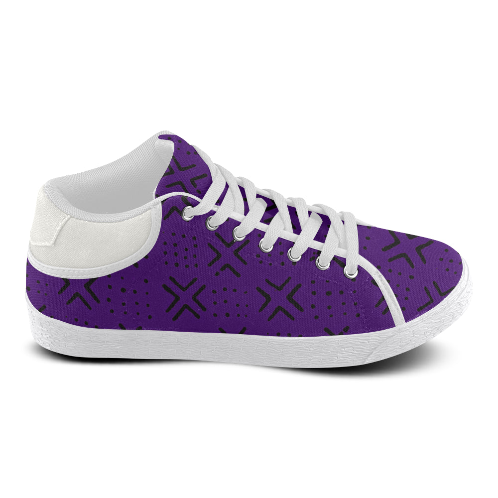 Women's Mud Cloth Kicks (Purple)