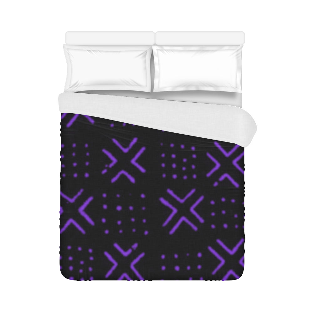 Bed Cover (Black Purple)