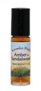 KUUMBA MADE AMBER AND SANDALWOOD 1/8 oz