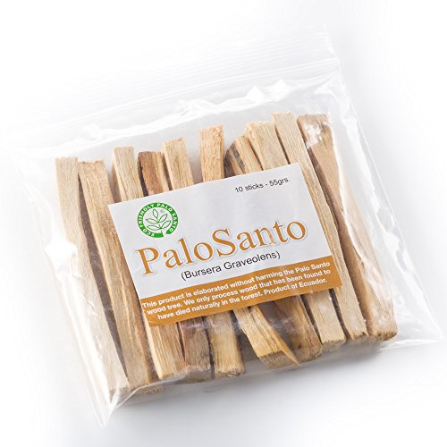 Premium Authentic Ecuadorian Kiln-Dried Palo Santo ( Holy Wood ) Incense Sticks ( 10 ), Wild Harvested, 100% Natural for Purifying, Cleansing, Healing, Meditation and Stress Relief