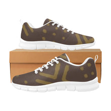 Men's Breathable Sneakers (Brown White)