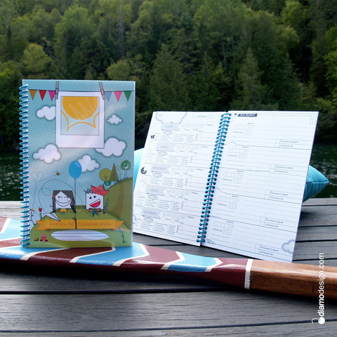 Diamodesign's agenda and notebook to communicate between parents and educator about the child at the daycare.