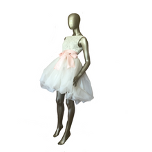 Silk organza puffball dress