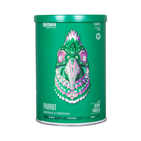 Parrot Greens & Protein - Berry Vainilla 210g