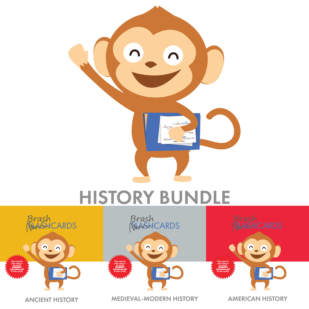 Bundle: History-Themed Brashcards