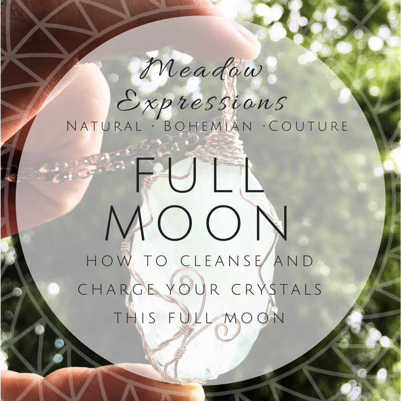 Charging Crystals with the Full Moon