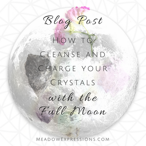 How to charge and clear crystals with the full moon