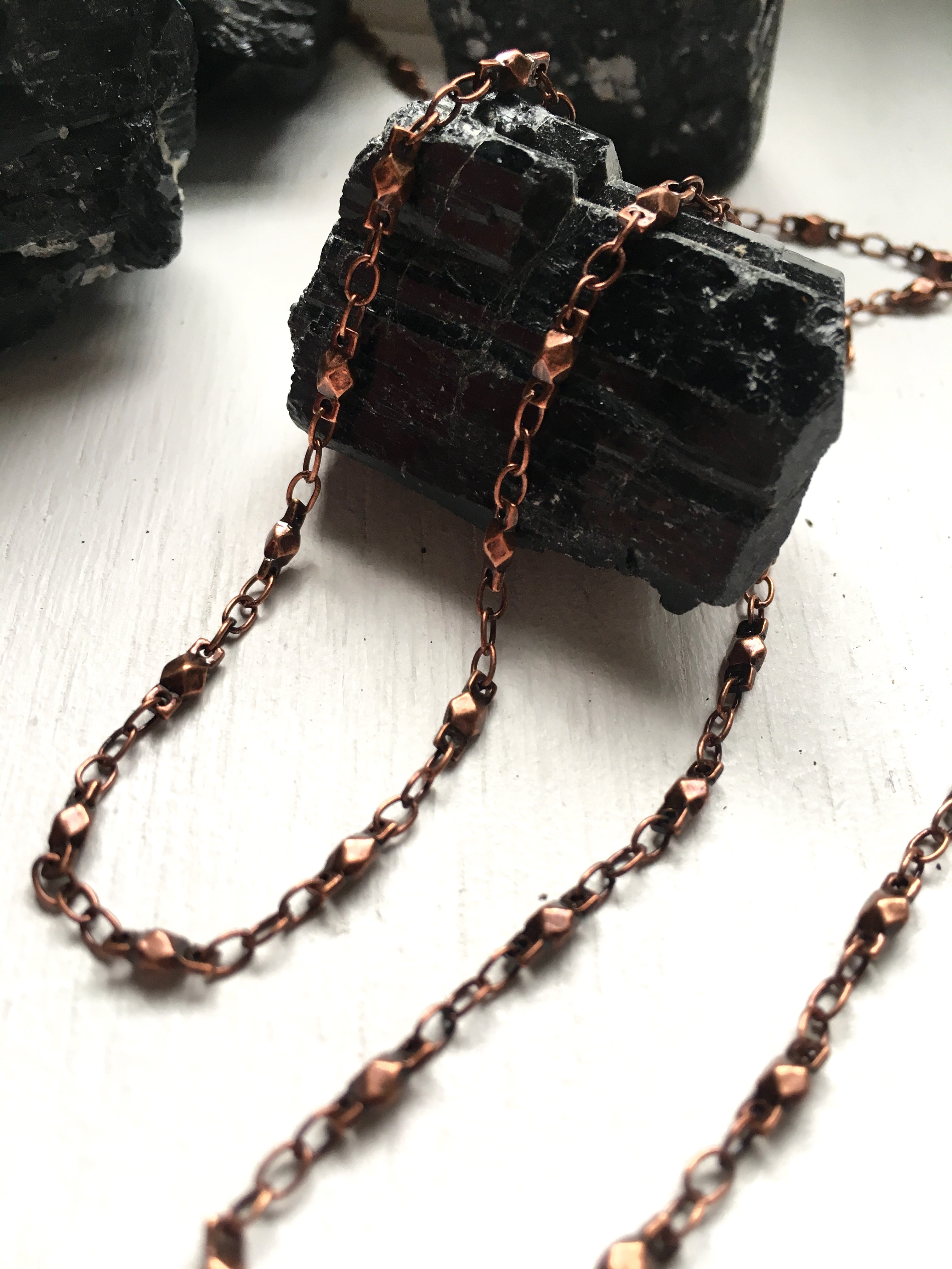 Chain Antiqued Copper Sacred Geometry Chain Custom Lengths