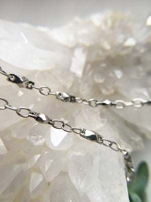 Pure Silver Sacred Geometry Chain for Crystal Jewelry by Meadow Expressions