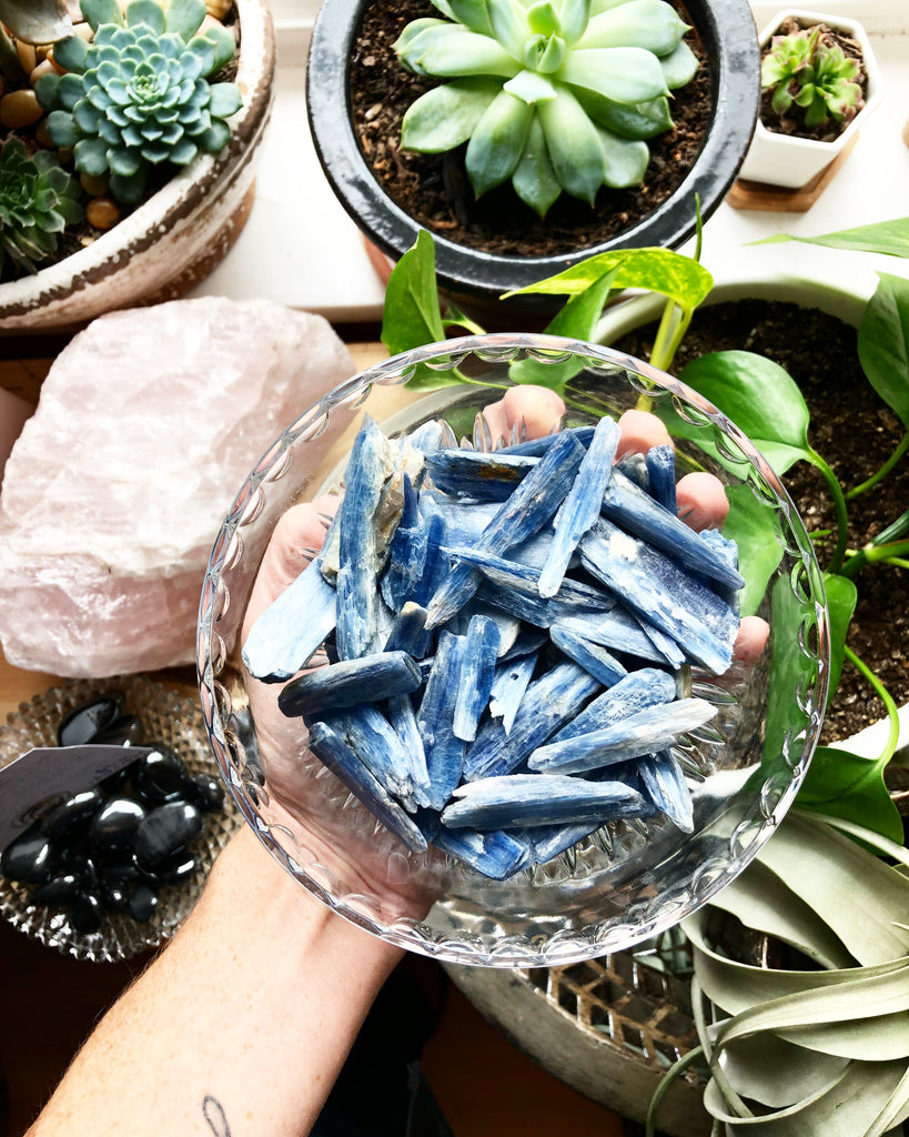 Blue Kyanite Raw Blades Stone Crystal
