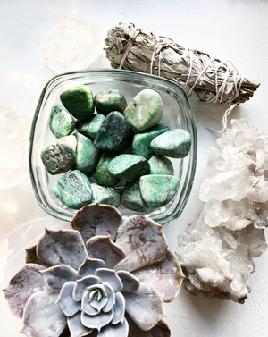 African Turquoise Tumbled Stone Crystal