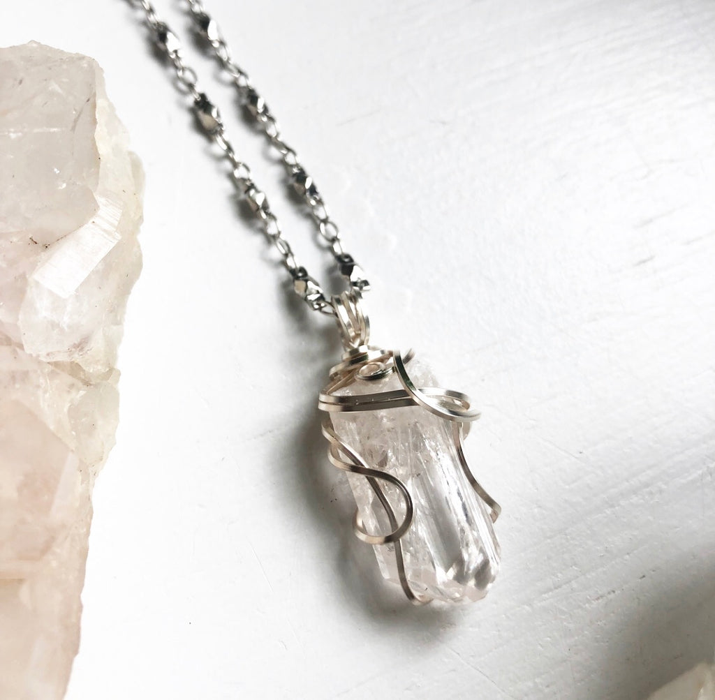 Custom Order Danburite Crystal Necklace