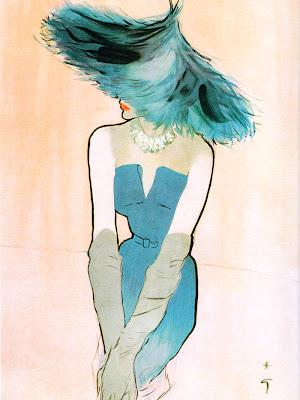 Rene Gruau Illustrations Featuring Millinery