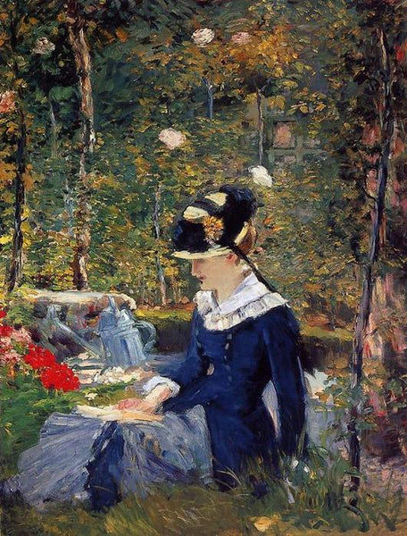 Woman in the Garden by Edouard Manet