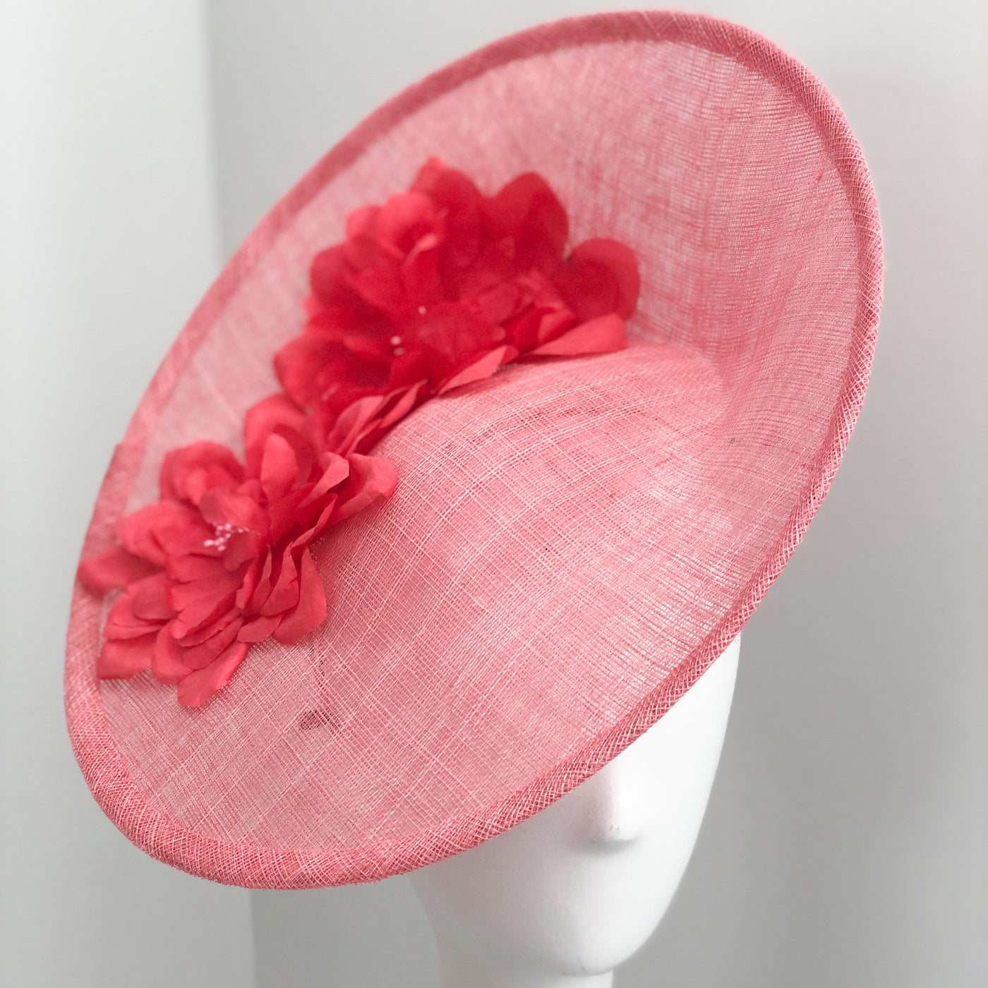 Saucer Hat - Pink with Hot Pink
