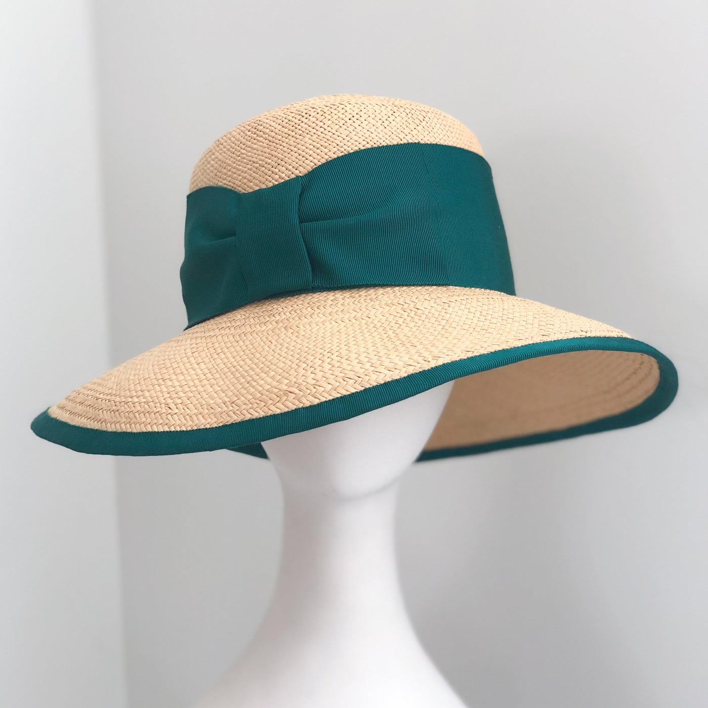 Sun Hat - Natural and Green