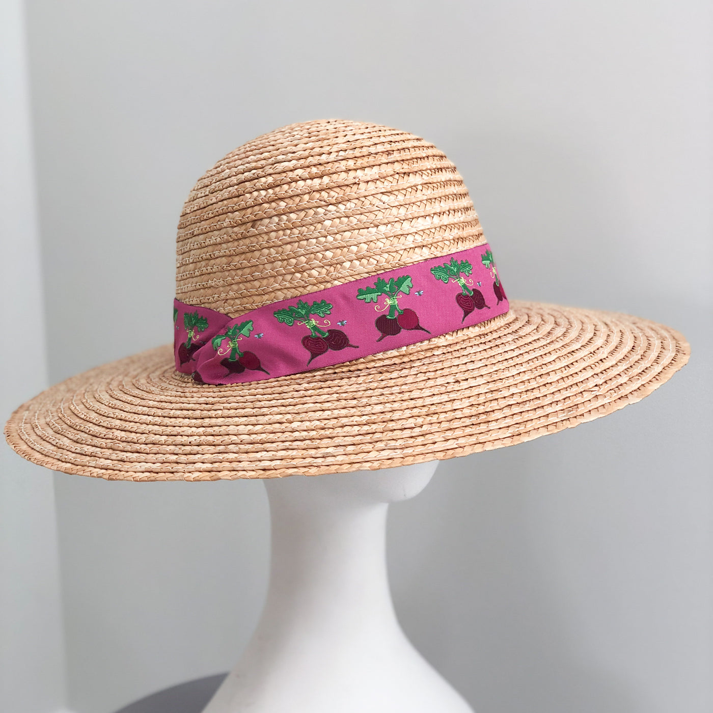 Sun Hat - Natural with Beets