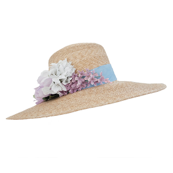 Meadow Hat - Natural with Cornflower and Lilac