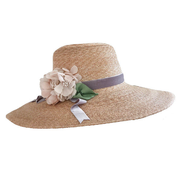 Meadow Hat - Natural with Lavender and Ivory