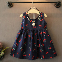 Casual Cherry Print Dress