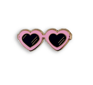 Heart Sunnies Enamel Pin