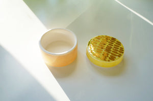 Peach, Yellow + Gold Trinket Box