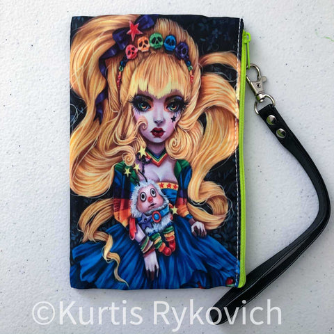 Rainbow Brite Cosmetic Bag Wristlet