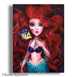 Ariel Canvas Print ( Hand Embelllished)